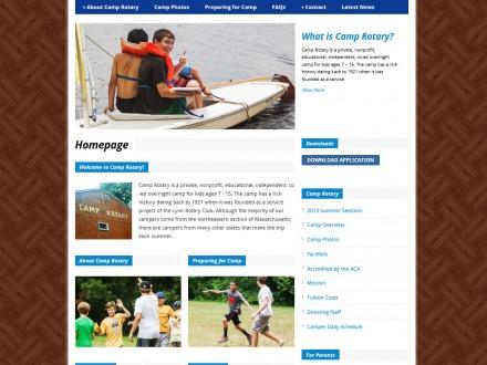 Camp Rotary Responsive Website Design